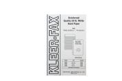 Kleer-Fax Tare-Shield Mylar Reinforced Filler Paper, Unruled, 50# White Offset, 22cm x 14cm , 100 Sheets per Pack, 20085