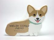 Welsh Corgi Dog Die-cut Memo Pad 12cm x 10cm x 0.10cm 90 Sheets 5 Designs Inside