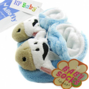 KF Baby Animal Soft Sole Booties, for 3 - 12 Months - Cow