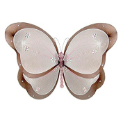 The Butterfly Grove Chloe Butterfly Decoration 3D Hanging Mesh Nylon Layered Decor, Chocolate Brown, Large, 46cm x 28cm