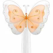 The Butterfly Grove Sasha Butterfly Curtain Tieback, Orange Creamsicle, Small, 13cm x 10cm