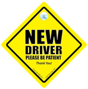 New Driver Car Sign, P Plate Sign, New Driver Car Sign, New Driver Please Be Patient Car Sign, Baby on Board Sign, Decal, Baby on Board, Bumper Sticker, Car Test, Driving Licence, Driving Test, Newly Passed Driver, Car Safety Sign