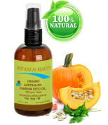 """ORGANIC PUMPKIN SEED OIL Australian. 100% Pure / Natural / Undiluted /Unrefined Cold Pressed Carrier Oil. 1 Fl.oz.- 30 ml. For Skin, Hair, Lip And Nail Care. """"One Of The Richest Sources Of Enzymes, Fatty Acids, Iron, Zinc, Vitamins A, C, E And K"""". Bota .."""