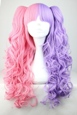 CC-WIG-219A Wig, Pink/Purple, Approx. 65 cm Long for Lolita Cosplay or Shop Window Dummies, Carnival or Themed Parties