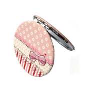 Lovely BowknotTravel Pocket Beauty Makeup Mirror Compact Mirror ,Pink
