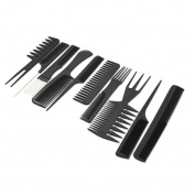 10pcs Durable Salon Brush Hairdressing Cutting Hair Cut Styling Anti Static Comb