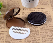 Domire 1x Cute Cookie Shaped Design Mirror Makeup Comb