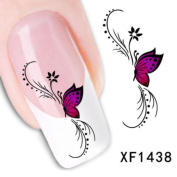 3pcs DIY Nail Art Manicure Set Butterfly Water Transfer Decal Sticker Decoration
