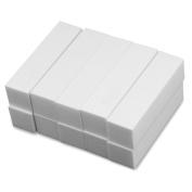 10x White Buffer Buffing Block Sanding Files Acrylic Nail Art Tips Manicure Tool