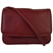 Ladies Small LEATHER CrossBody Bag by Hansson Nordic Blue Collection Handbag