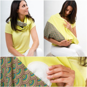 "Mania Breastfeeding scarf ""Sunny"" with small pocket for nursing pads in size L/XL"