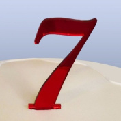 Number 7 Cake Topper Red Acrylic Mirror