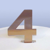 Number 4 Cake Topper Bronze Acrylic Mirror