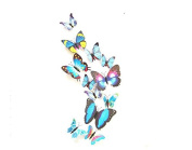 12PCS 3D Blue Butterfly Stickers Card Making Stickers Wall Stickers 3D Crafts Butterflies