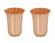 Craftsman Set Of 2 Copper Cups Water Tumbler Handmade Water Glasses - Copper Cup For Ayurveda Benefits
