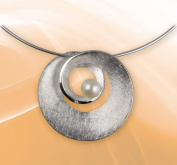 """Silver Pendant with Pearl Luxxl """"Helix"""""""