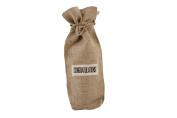 "Assorted Slogans Jute Wine Bottle Gift Bag - Bags - Hessian Natural - ""Congratulations horizontal"""