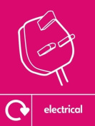 ELECTRICAL RECYCLING SIGN - Self adhesive vinyl 150mm x 100mm