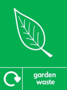 GARDEN WASTE RECYCLING SIGN - Self adhesive vinyl 200mm x 300mm
