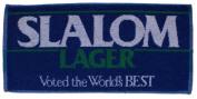 SLALOM LAGER British Pub Bar Towel