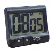 Black White LCD Digital Kitchen Timer Count Down Up Clock Loud Alarm