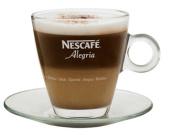 2 X Nescafe Alegria Espresso Glass Cups & Saucers, 100ml