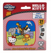 viewmaster 3 Reel Set HELLO KITTY in -- A TRIP TO THE ZOO - in 3D