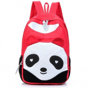 Yiuswoy Casual Style Fashion Cute Panda Canvas Backpack For Teen Girls And Boys - Red