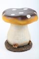 Point Garden Children's Garden Stool Mushroom Brown