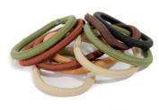 Pack of 10 Snag Free Natural Coloured Hair Elastics/Ties Bobbles