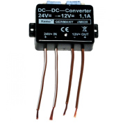 KEMO CONVERTER DC DC 24V STEP DOWN TO 12V POWER SUPPLY 1.1A LORRY TRUCK VAN NEW