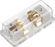T1 Audio T1-20 - 2-Way 1 In 2 Out AGU Fused Car Amplifer Distribution Block.