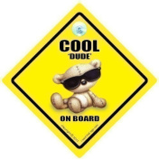 Cool Dude On Board Car Sign, Baby Shades, Baby on Board Sign, Baby On Board Car Signs, baby on board, Dude on Board Car Sign, Little Dude On Board, Bumper Sticker Style