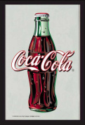 Empire Merchandising 537201 Printed Mirror with Plastic Frame with Wood Effect Featuring Coca Cola Logo 20 x 30 cm