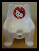Hello Kitty White Colour Potty Chair and with removable potty for easy training