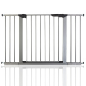 BabyDan Premier True Pressure Fit Baby Safety Stair Gate Silver All Widths