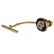 Hard Gold plated 14x12mm Poker tie tack