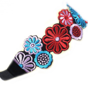Flexible headband 'Altaï'red blue.