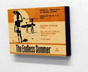 15cm X 10cm (postcard size) Block Mounted Print Endless Summer Surfing