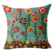 Culater® Tree Cushion Cover Bed Car Printed Cotton Linen Sofa Vintage Pillow case