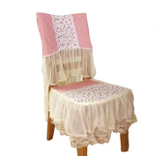Beautiful Dining Chair Slipcover Lovely Bow Lace Romantic Cover 45cm Pink