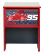 Worlds Apart 864746 Modern Bedside Table Disney Cars Design MDF 36 x 29.5 x 27.5 cm Black/Red