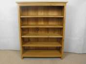 Oak CD DVD unit or bookcase ideal for living room, study or bedroom with 4 adjustable shelves