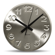 Karlsson Bold Engraved Numbers Steel Wall Clock