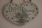 Lucky Irish Blessing Heart Sign May The Road Rise Up To You Sign Plaque Wooden
