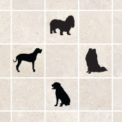 Pack of 12 Dog Tile Stickers - Dog Silhouette Stickers
