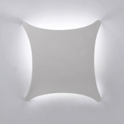 Modern White Ceramic 4 Way Curved Square Flush Wall Wash Lamp Light