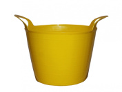 7L 7 Litre Mini Flexi Tub Storage Container Bucket Garden Laundry Yellow Ideal for Underwear Pegs