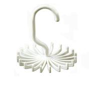 360 Degree Rotating Twirl Tie Rack Adjustable Tie Belt Hanger Holder Hook 20 Neck Ties