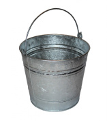 Heavy Duty Metal Bucket Strong Galvanised Steel Durable 12 Litre 12L